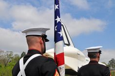 Color Guard and Space Shuttle Enterprise (NASM 4/19/12) by txflygirl, via Flickr