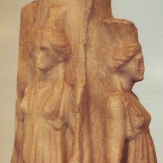Hekate  (Hecuba) triple Goddess,marble statue from Nasebar.Bulgaria Thracian culture
