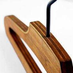 Plywood Hanger for Vintage Clothing / Furniture Vintage Clothing, Vintage Outfits, Cafe Furniture, Clothing Storage, Woody, Plywood, Hanger, Closet, Clothes Storage