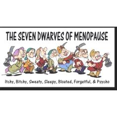 The Seven Dwarfs of Menopause...: Quotes, Funny Pictures, Comic Books