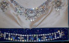 Vintage Di Lido Jewels Rhinestone and Crystal Briolette Parure in Original Box #DiLidoJewels
