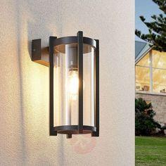 73€ | Lucande Brienne outdoor wall light, glass | Lights.ie