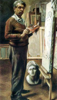 Giorgio de Chirico · Self Portrait in the Studio | Paris · 1934 · Galleria Nazionale d'Arte Moderna · Roma