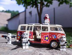 Stormtrooper, lego, stormtroops,volkswagen van, nature, star wars