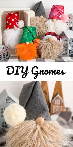 Country Home Decor Easy Gnomes DIY Free PDF patterns Craft some today decorating with Gnomes all ye Crafts For Teens, Crafts To Make, Arts And Crafts, Diy Crafts, Clay Christmas Decorations, Christmas Gnome, Christmas Gifts For Girls, Simple Christmas, Christmas Presents