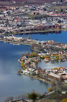A picture of Osoyoos where you can actually see my parents house! :) Neat angle of looking at the town....makes it seem even smaller than it really is.