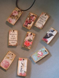 Mixed Media Art Projects | DOMINO TILES. Links to post with more pics.