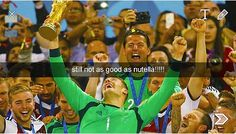 Manuel Neuer on winning the trophy (you know, it's only the World Cup... no biggy)