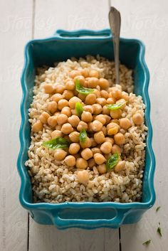 an healthy  brown rice salad.