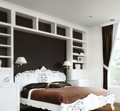 Great! Book shelves instead of a headboard.  It would free up space in our study!
