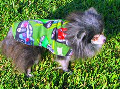 Fleece Dog Clothing Toy Breed  Forest by BloomingtailsDogDuds, $21.95