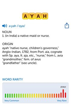 The best word I've seen today on Words with Friends is 'ayah'. Can you come up with a better one?
