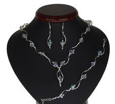 BIŻUTERIA ŚLUBNA KOMPLET ŚLUBNY wieczorowy posrebrzany kryształki ab KP204 Jewelry, Fashion, Jewlery, Moda, Jewels, La Mode, Jewerly, Fasion, Jewelery