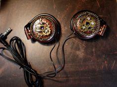 スチームパンク風ヘッドフォン/鋼鉄の音片   ハンドメイド、手作り作品の通販 minne(ミンネ)