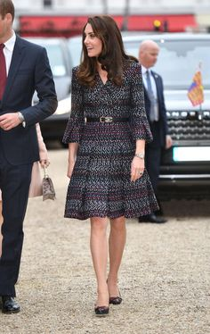 Kate Middleton Photos Photos - Catherine, Duchess of Cambridge and Prince William, Duke of Cambridge (not in picture) visit Les Invalides military hospital during an official two-day visit to Paris on March 18, 2017 in Paris, France. - The Duke And Duchess Of Cambridge Visit Paris: Day Two