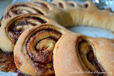 Whole Wheat Cinnamon Ring {using sourdough starter}
