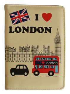 I love London passport cover London Poster, London Pictures, London Bus, Travel Style, Travel Trip, Passport Cover, Holiday Wishes, London Calling, Travel Accessories