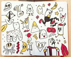 doodles sketches simple drawing
