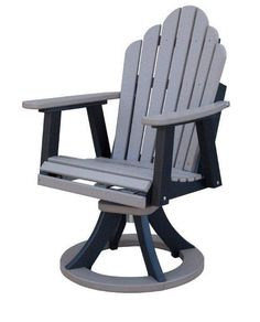 Berlin Gardens Cozi-Back Poly Swivel Rocker Dining Chair Popular for outdoor relaxation because the Cozi Back has got it all. Ultimate comfort as you dine and relax outdoors. #polychairs #polyfurniture #outdoorchair
