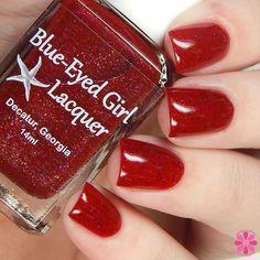 Blue-Eyed Girl Lacquer: Saucy Siren (Siren Series) #blueeyedgirllacquer #begl #beglove #swatch #indiepolish #beglsiren