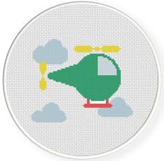INSTANT DOWNLOAD Stitch Helicopter PDF Cross by DailyCrossStitch
