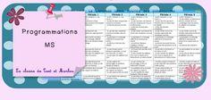 Programmations MS nouveaux programmes 2015 - La classe de Teet et Marlou Classroom Organisation, New Program, School Programs, Programming, Montessori, Homeschool, Blog, Language, Teacher