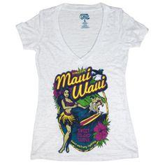 Seven Leaf Maui Waui Burnout Deep V-Neck White Shirt – Women's Bob Marley T Shirts, Rasta Lion, Bathing Suits Hot, White Shirts Women, Maui, Cool Things To Buy, Mini Skirts, V Neck, Rasta Clothing