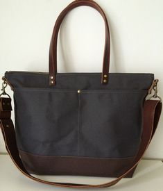 modern-coup-waxed-canvas-leather-custom-utility-tote-diaper-bag