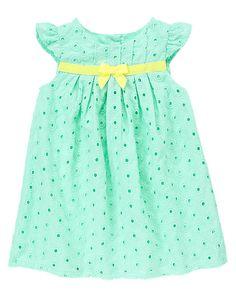 Gymboree Mint Eyelet Dress