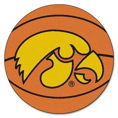 Iowa Hawkeyes Basketball Area Rug