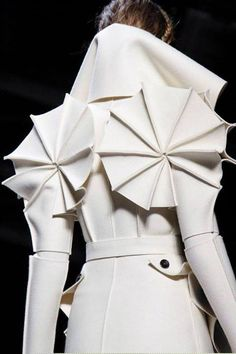 Victor & Rolf structured white coat