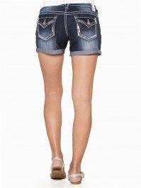 Dakota Sequin Outline Premium Jean Shorts #vanity #fashion #womens #womensfashion #womensapparel #spring2014 #denim #shorts