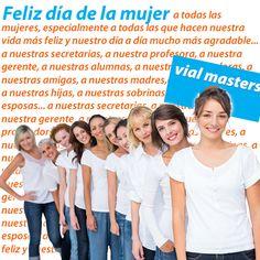 ¡Feliz día de la mujer! A todas las mujeres, especialmente a aquellas que nos acompañan en el día a día y nos hacen la vida más feliz.