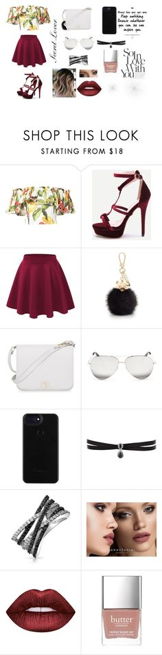 """""""Hidden Love"""" by blushingbeauty2628 on Polyvore featuring Isolda, Furla, Victoria Beckham, Fallon, Bling Jewelry, Anastasia Beverly Hills, Lime Crime and Butter London"""