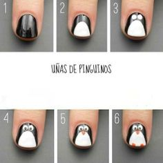 Uñas decoradas Pinguinos