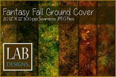 Seamless Fantasy Fall Ground Cover by Lab Designs on @creativemarket