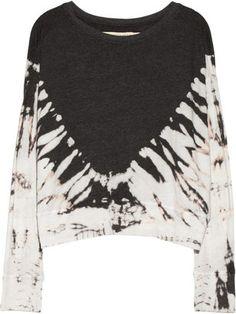 Raquel Allegra Tie-dyed cotton-blend jersey sweatshirt