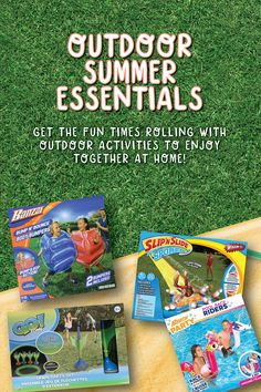 Get the fun times rolling for spring and summer with outdoor activities, pool toys, and more to enjoy together at home. Kids Outdoor Play, Outdoor Games, Outdoor Activities, Pool Toys, Summer Essentials, Good Times, Things That Bounce, Have Fun, Spring