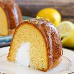Cream Filled Lemon Bundt Cake.