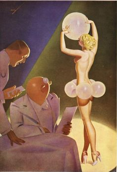 GEORGE PETTY - A dry Martini and a package of pins! - item by not.pulpcovers