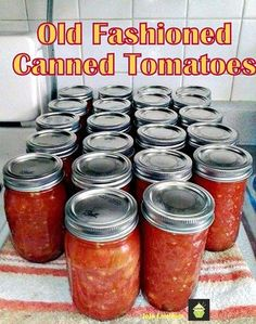 Old Fashioned Canned Tomatoes. A great easy tutorial & recipe so you can capture the taste of Summer and enjoy during the Winter months! #canning #tomatoes #easyrecipe
