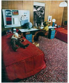 """Martha Rosler, """"Boys' Room"""" from """"House Beautiful: Bringing the War Home,"""" c. Artwork Images, Cool Artwork, Contemporary Art Artists, Collage Artists, Beautiful Homes, House Beautiful, Art Institute Of Chicago, Film Stills, Moma"""