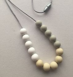 Silicone Teething Necklace by BabyBCreations1 on Etsy