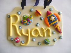 Space Kids Name Sign. Personalized Kids Room by PaisleyandParadise