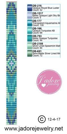 11. Turquoise loom bracelet beading pattern tribal