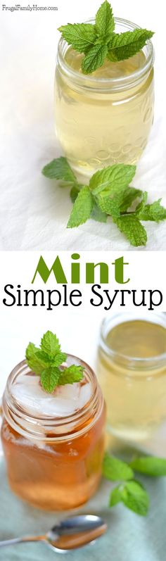 I love this mint simple syrup. It so easy to make and so versatile too. This simple syrup adds a little sweetness and a hint of mint flavor too. It has so many uses, add it to ice tea, mojitos, and it even makes water tastes better. It's the perfect sweetener for summer drinks. Click through to see how to make this mint simple syrup to use in all kinds of drinks.