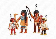 Playmobil-Western-Oeste-Familia-de-Nativos-Indios-Ref-6322-NUEVO-Accesorios