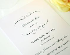 Vintage French Save the Date in Black and by shineinvitations, $3.50