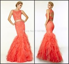Two Piece Prom Dresses 2015 Sexy Open Back Beads Ruffles Bandage Formal Pageant Dresses for Women|Aliexpress Mobile