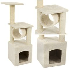 Wall Mount Cat Floating Steps Shelves Scratching Post with Leaser Feather and Fluffly Ball BIG NOSE